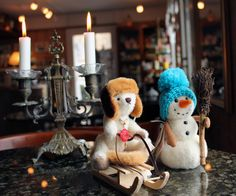Having some winter fun in Suomenlinna! Teddies made by Teddy Hermann, Germany.