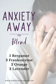 This diffuser blend is great for relieving anxiety. Essential oils can help with anxiety, moods, and positive energy. This articles introduces the best 5 essential oils for anxiety and how to use them. Give them a try today! Essential Oils For Stress, Essential Oils Guide, Essential Oil Uses, Oils For Anxiety Doterra, Young Living Essential Oils For Anxiety, Young Living Anxiety, Essential Oils For Vertigo, Essential Oils Energy, Doterra Essential Oils