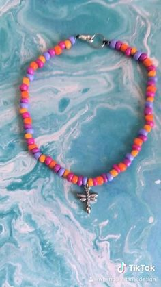 Diy Bracelets Easy, Seed Bead Bracelets, Seed Bead Jewelry, Cute Jewelry, Handmade Bracelets, Diy Jewelry, Beaded Jewelry, Anklet Jewelry, Jewelry Findings