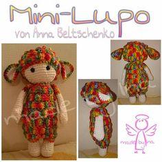 Mini-Lupo von Anna Beltschenko  Anleitung gratis bei www.lalylala.com zu finden  Arbeit & Bilder MEINS <3