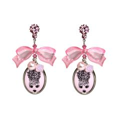 """""""15 YEARS OF SPARKLE"""" ICON CAMEO DROP EARRINGS found on Polyvore"""