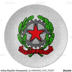Italian Republic Ornamental Personalize Dinner Plate