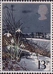 British Flowers 13p Stamp (1979) Snowdrop