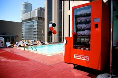 Boardshorts Vending Machine Vending machines containing limited edition Quiksilver boardshorts and bikinis can be found at The Standard Hotels in Hollywood, Los Angeles, New York, and Miami.