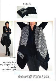 by sophie b. l'éco-design à la française - Winter 13 - Recycling of handmade woolen blanket