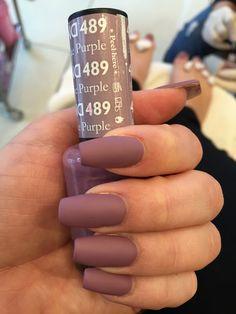 Antique purple matte gel polish