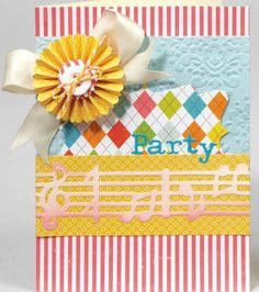 Ready to celebrate? Do you have a #party coming up? Love this #card! #Sizzix
