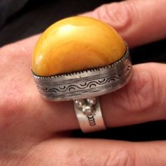 "The same ring worn...locals call this resin ""Young amber"""