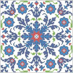 turkish pattern cross stitch b Cross Stitch Pillow, Cross Stitch Charts, Cross Stitch Designs, Cross Stitch Patterns, Cross Stitching, Cross Stitch Embroidery, Embroidery Patterns, Turkish Pattern, Stitch Pictures