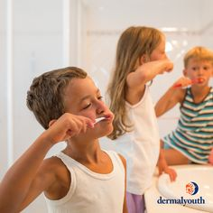 Daily Children's Skincare System backed by The Skin Cancer Foundation Anti Aging Mask, Anti Aging Skin Care, Teeth Care, Brushing, Singles Day, Peace Of Mind, Organic Skin Care, Skin Care Tips, Lotion