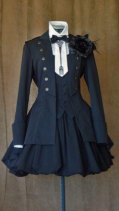 Jacket, Skirt: Atelier Boz Blouse: Elegy Fork tie: Innocent World Corsage: Offbrand