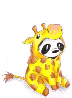 Panda giraffe.  #wallpaper #iphone
