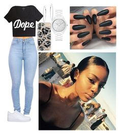 """""""Untitled #289"""" by queen-ayanna on Polyvore featuring NIKE, Casetify and Michael Kors"""