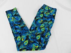NWT Buttery Soft Peacock Feather Leggings Tall /& Curvy XL Plus Indian Feather TC