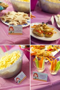 little mermaid party - disney's version, but still cute food ideas