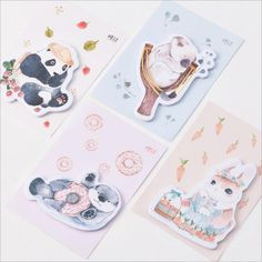 Notebooks & Writing Pads Intelligent 1 Pcs Cartoon Cat Dog Box Memo Pad 3d Kawaii Scrapbooking Stickers Korean Stationery Sticky Notes Office School Supplies High Resilience Memo Pads