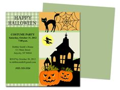 frightful halloween party invitation template