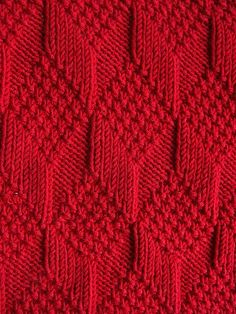 Moss Diamond and Lozenge Pattern - nice idea for a baby blanket
