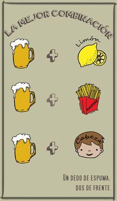 La mejor combinación: cerveza + cabeza. Un dedo de espuma, dos de frente. #UnDedoDeEspuma