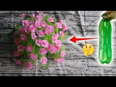 How to make a flower vase using plastic bottle 2018 | Diy BigBoom(DBB) - YouTube