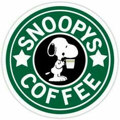 Snoopy and Starbucks! Two of my favorites. Peanuts Cartoon, Peanuts Snoopy, Snoopy Cartoon, Peanuts Comics, Cinnamon Bun Cake, Starbucks Logo, Starbucks Coffee, Disney Starbucks, Happy Week End