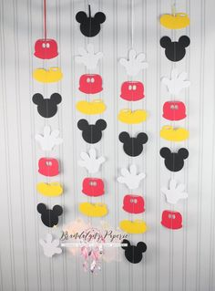 Mickey Mouse Garlands set of 4 or 8 VERTICAL, Mickey Mouse Birthday garland, Mickey mouse party decorations Rainbow First Birthday, Mickey Mouse Birthday, Boy First Birthday, Mickey Mouse Cupcakes, Mickey Cakes, Mickey Mouse Classroom, Mickey Mouse Clubhouse, Theme Mickey, Mickey Party