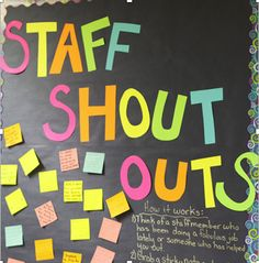 Teacher wellbeing is important too! Staff Shout Outs - morale boosters for teachers. Teacher wellbeing is important too! Staff Shout Outs - morale boosters for teachers. Employee Appreciation Gifts, Teacher Appreciation Week, Volunteer Appreciation, Volunteer Gifts, Teacher Thank You, Teacher Gifts, Teacher Shout Out Board, Gifts For Staff, Teacher Prayer