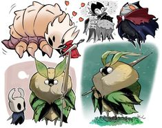 Game Character Design, Character Design References, Character Design Inspiration, Character Art, Cute Moth, Team Cherry, Hollow Night, Hollow Art, Carapace