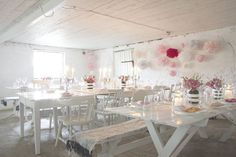 pink and rustic!
