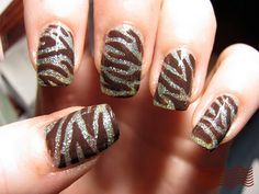 25 Awesome Nail Trends to Try. Tiger Stripes