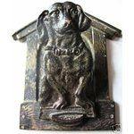 Dachshund Hanging Clip Bronze Dog Antique