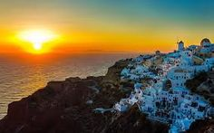 Sunset oia santorini greece Wallpaper in Mykonos, Santorini Island Greece, Fira Santorini, Santorini Sunset, Greece Wallpaper, View Wallpaper, Sunset Wallpaper, World's Most Beautiful, Beautiful Places In The World