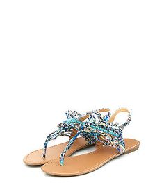 Blue Printed T-Bar Sandals Shoe Gallery, New Look, Bar, Printed, Sandals, Holiday, Shoes, Fashion, Moda