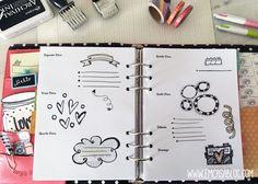 Insert Planner Estilo Bujo e Personal Bujo, Weekly Planner, Planner Ideas, Bullet Journal, A5, Doodles, Printables, Scrapbook, Fritters