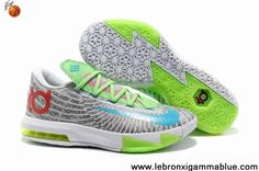 huge discount 9f469 1bbec Nike Zoom KD 6 White Grey Green Red Blue Shoes for sale. The cool colorway  kd 6 shoes will be your best choice.