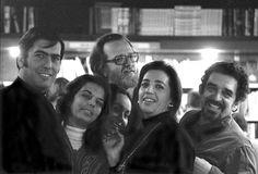 En la foto, María Vargas Llosa, su mujer Patricia; José Donoso, su esposa Pilar Serrano; Mercedes Barcha, mujer de Gabriel Garcia Márquez y este último.