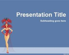 Carnival PowerPoint template is a free template that you can use for Carnival presentations but also for any dance presentation or vedette in PowerPoint. Powerpoint Template Free, Carnival Themes, Dancer, Presentation, Templates, Storage Ideas, People, Backgrounds, Image