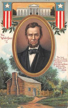 Abraham Lincoln Patriotic Triple View Vintage postcard Artist Chapman by JerryBurton on Etsy Vintage Cards, Vintage Postcards, Vintage Images, Abraham Lincoln Pictures, Patriotic Images, Patriotic Crafts, Presidents Day, Black Presidents, American Presidents