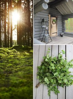Sauna. This captures very nicely the mood of sauna time on an summer evening in Finland.