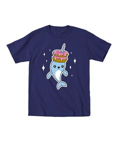 Look what I found on #zulily! Navy Narwhal Donut Stack Tee - Toddler & Kids #zulilyfinds