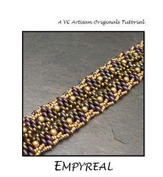 Beading Tutorial Twin Bead Bracelet Pattern by VCArtisanOriginals