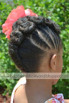 Beads, Braids and Beyond: Natural Hair Updo: Cinnabuns & Flat Twists
