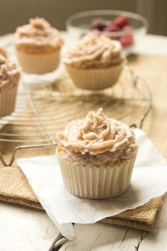 Berry Mascarpone Cupcakes.
