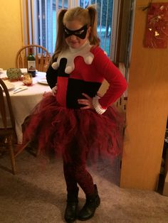 Harley Quinn. The costume was fairly easy to make.