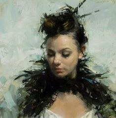 Jeremy Mann is American painter-Impressionist. Interesting fact is that Jeremy is inspired by the pavement that reflect the city lights during the rain. The painter is already very famous around th… Figure Painting, Painting & Drawing, Oil Portrait, Portrait Paintings, Oil Paintings, Traditional Paintings, Woman Face, Art World, Figurative Art