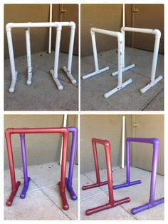 Googled & made my very own Gym Equalizer Bars made out of PVC Pipes. It's just as sturdy as metal bars.