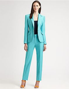 Spring Trends 2013: The Pantsuit; Ralph Lauren Black Label silk suit. What do you think about this for office wear?