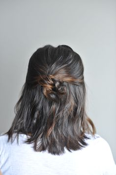 twisted up do hairstyle on short hair, hairstyles for short hair - @mystylevita
