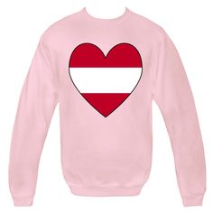 Image of a heart shaped Flag of Austria or Austrian Flag, shows on merchandise, products, apparel, baby & toddler items, casual clothing, tees and T-shirts. Terrific way of sharing your love and pride in your ethnic heritage, ancestry and culture on Valentine's Day or any special day. Travelers will love this as a memento of a lovely trip, vacation or holiday. Terrific gift for Christmas or birthday, too. Creative teachers will love some items as teaching aids or tools. $29.99 ...