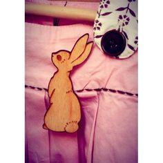 Boo Rabbit Brooch